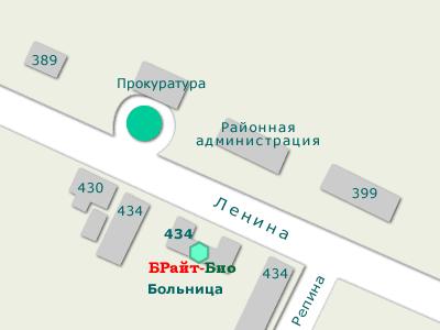 пгт Черниговка, Ленина 434, схема