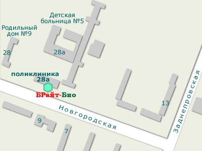 Запорожье, Новгородская 28а, схема